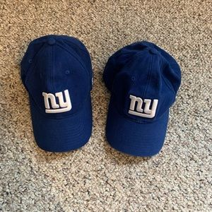 2 Reebok One Size Fits All NY Giants Caps